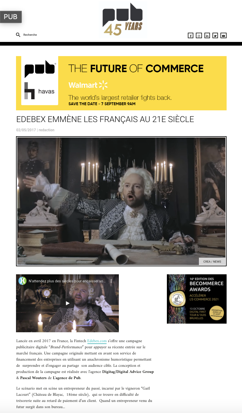 EDEBEX BRINGS THE FRENCH INTO THE 21ST CENTURY